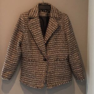 Women's Size 14 DKNY fringed blazer